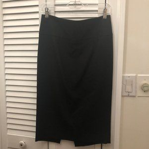 Zara Basic black skirt, back zip, 4